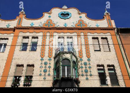 La Hongrie, Szeged, l'architecture Art Nouveau, Banque D'Images