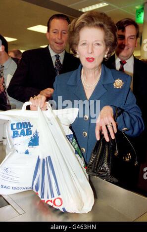 Thatcher/checkcard élection Banque D'Images