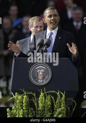 Le président Obama visite en Irlande - Jour 1 Banque D'Images