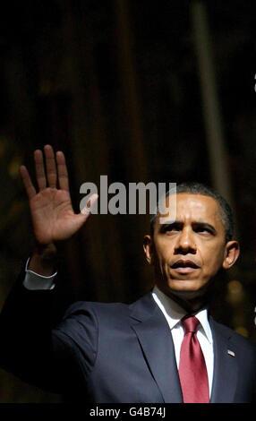 Le président Obama visite d'État à la France un jour- Banque D'Images