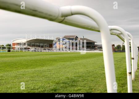 Courses hippiques - Hippodrome de Leicester. Vue générale de l'hippodrome de Leicester