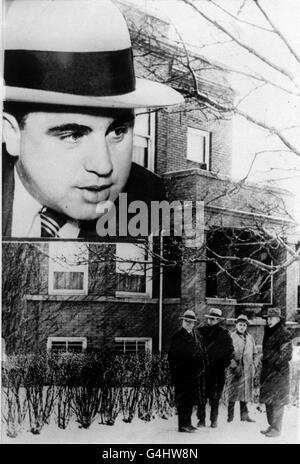 À ce jour dans l'histoire - Le St Valentines Day Massacre Banque D'Images