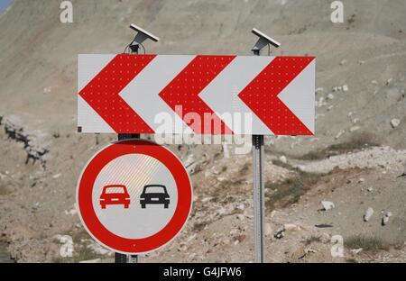 Signe indique près de l'Nallihan-Ankara road Banque D'Images