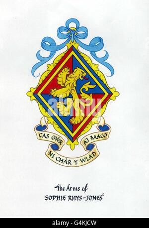 Sophie Rhys-Jones/Coat of Arms Banque D'Images