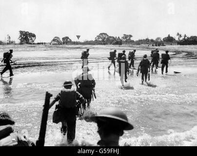 La Seconde Guerre mondiale - Empire britannique - Far Eastern Front - l'île de Ramree - 1945