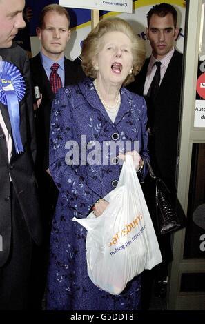 Élection générale Thatcher Banque D'Images