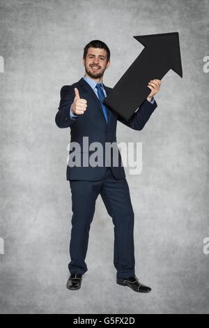 Thumbs up pour la croissance Banque D'Images