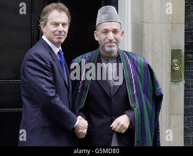 Blair et l'Afghanistan, Hamid Karzai, chef intérimaire