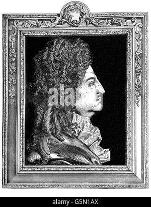Louis XIV (1638 - 1715), connu sous le nom de Louis le Grand (Louis le Grand) ou le Roi Soleil le Roi-Soleil), était Banque D'Images