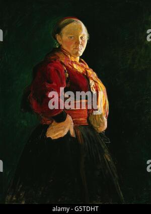 Halfdan Egedius - Portrait de Mari Clasen Banque D'Images