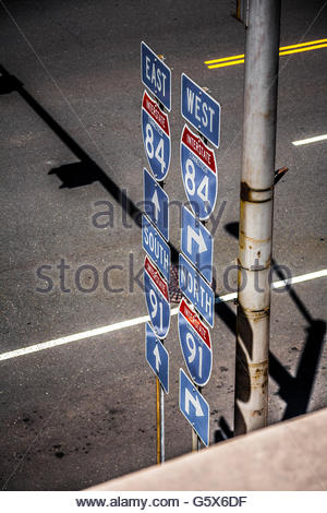 Panneaux routiers. Banque D'Images