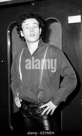 Adam Ant à Heathrow. Banque D'Images