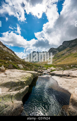 Piscine dans les montagnes, rivière Golo, Parc Naturel de la Corse, Parc naturel régional de Corse, Corse, France