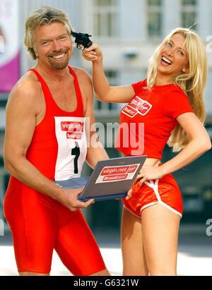 Sir Richard Branson - Virgin.net Banque D'Images