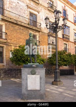 Statue de Francisco de Miranda à Cadix