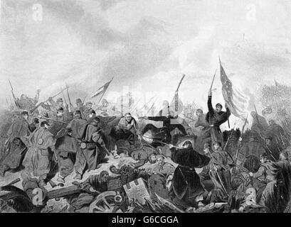 Années 1860 Années 1860 Février 1862 GUERRE CIVILE AMÉRICAINE CAPTURE DU FORT DONELSON PAR LES FORCES DE L'UNION Banque D'Images