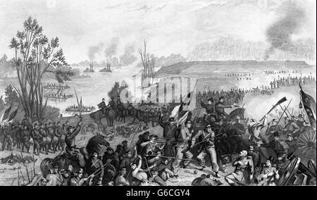 1860 février 1862 CAPTURE DU FORT DONELSON TENNESSEE PAR LES FORCES DE L'UNION Banque D'Images
