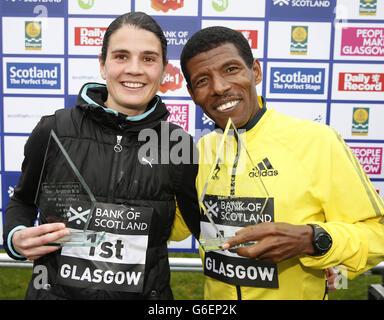 Athlétisme - 2013 Bank of Scotland Grand Run - Glagsow écossais Banque D'Images
