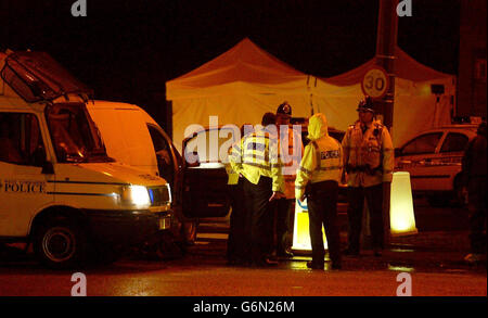 La police tirer Leeds Banque D'Images