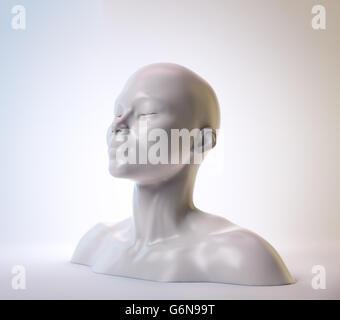 Un buste femme - psychologie illustration Banque D'Images