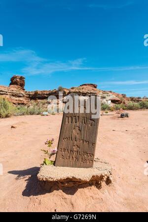 Vieille tombe, ville fantôme, Grafton près de Springdale, en Utah, United States Banque D'Images