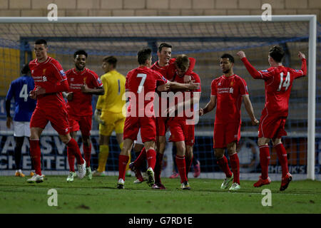 Soccer - Barclays Premier League - U21 U21 Liverpool v Everton U21 - Stade Deva Banque D'Images