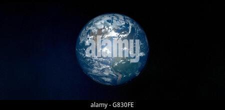 Extrêmement détaillée de la planète Terre dans l'espace Banque D'Images