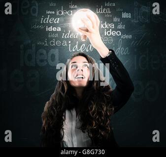 Idée lumineuse Banque D'Images