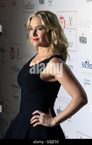 Kate Winslet assistant aux London Criors' Circle film Awards au May Fair Hotel, Central London. APPUYEZ SUR ASSOCIATION photo. Date de la photo: Dimanche 17 janvier 2016. Voir l'histoire de PA SHOWBIZ critiques. Le crédit photo doit être lu : Jonathan Brady/PA Wire.