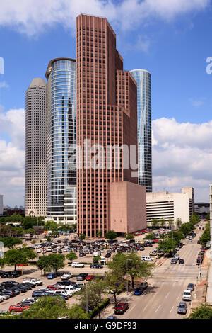 Gratte-ciel dans le centre-ville de Houston, Texas Banque D'Images