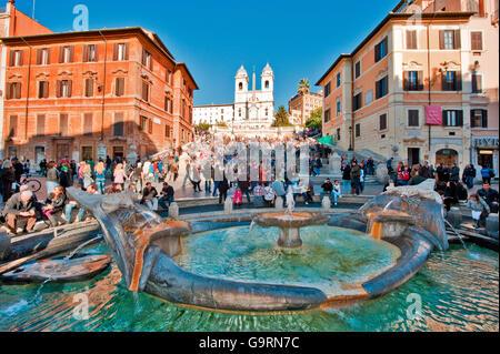 Piazza di Spagna, Rome, Latium, Italie, Europe / Espagne Banque D'Images