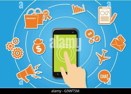 Développement d'applications mobiles écosystème d'applications Banque D'Images