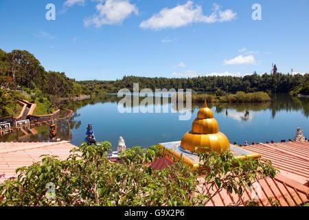 Lac Saint Ganga Talao, hindou de Grand Bassin, Ile Maurice, Afrique, Océan Indien / Ganga Talao Banque D'Images