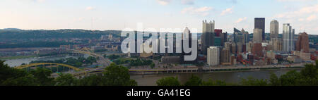 Un Panorama de la ville de Pittsburgh, Pennsylvanie Banque D'Images
