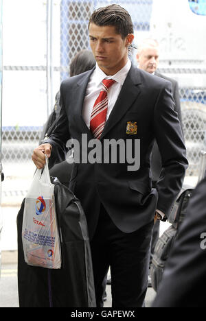 Football - Ligue des Champions - Final - Manchester United v Chelsea - Manchester United partir pour Moscou Banque D'Images