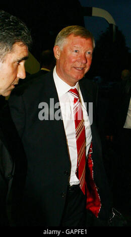 Football - Ligue des Champions - Final - Manchester United v Chelsea - Manchester United arrive à Moscou Banque D'Images