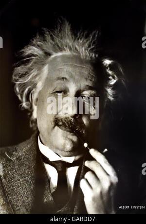Le professeur ALBERT EINSTEIN (1879-1955). (Américain), d'origine allemande, physicien théorique. 1937 en exil à Banque D'Images