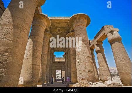 Arcade, Ramesseum, temple de Louxor, Egypte Banque D'Images