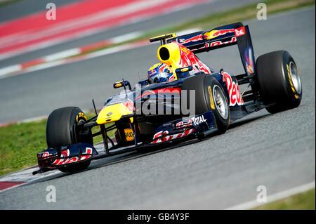 Mark Webber, en Australie, au volant de sa Red Bull Racing-Renault RB7, les sports mécaniques, Formule 1 essais Banque D'Images