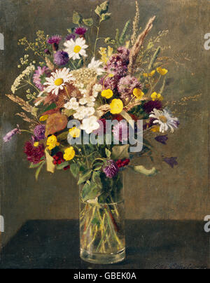 Beaux-arts, Henri Evenepoel, Otto (1834 - 1902), peinture, 'Bouquet de fleurs' ('Blumenstrauss'), Fondation Reinhardt, Banque D'Images