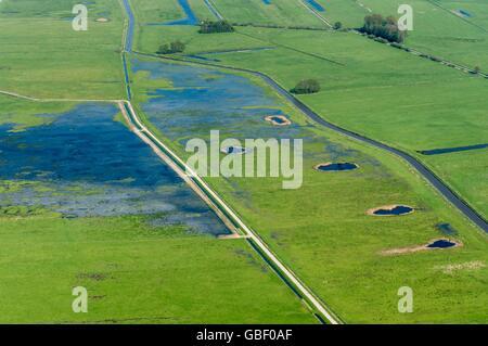 Agrarland, Landkreis Vechta, Oldenburger Muensterland, Niedersachsen, Deutschland Banque D'Images