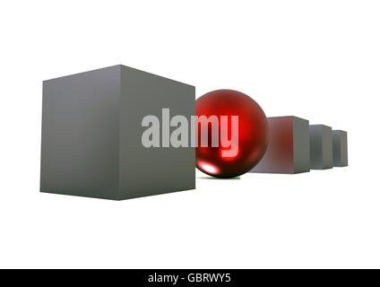 L'image de rendu 3D représentant un concept unique. Banque D'Images