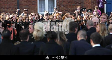 Funérailles de Stephen Gately Banque D'Images