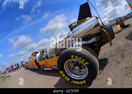 Classe top fuel dragster jet voiture à York dragway race track yorkshire royaume uni Banque D'Images