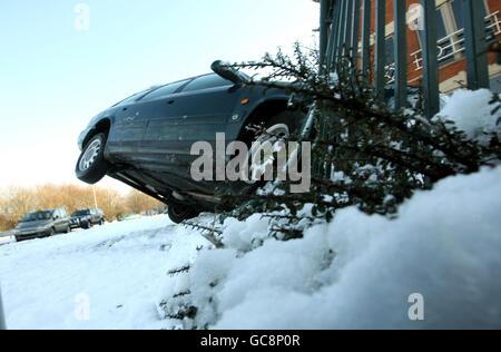 Conditions météorologiques hivernales Banque D'Images