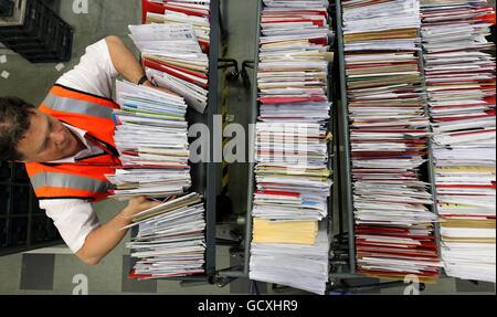 Les services postaux de Noël Banque D'Images