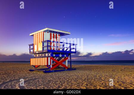 Miami Beach, Floride, USA à l'aube. Banque D'Images