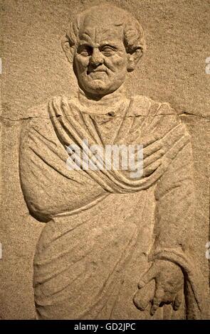 Beaux-arts, antiquité romaine, stèle sépulcrale, collection des antiquités, musée archéologique, Istanbul, l'artiste Banque D'Images