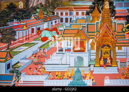 Beaux-arts, l'art religieux, la Thaïlande, la Thaïlande, l'Asie, le bouddhisme, la mer d'Andaman, l'Asie du Sud Banque D'Images