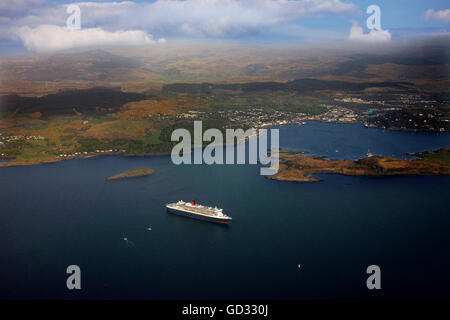 Cuanrds Queen Mary II se rendant sur Oban, Argyll Banque D'Images